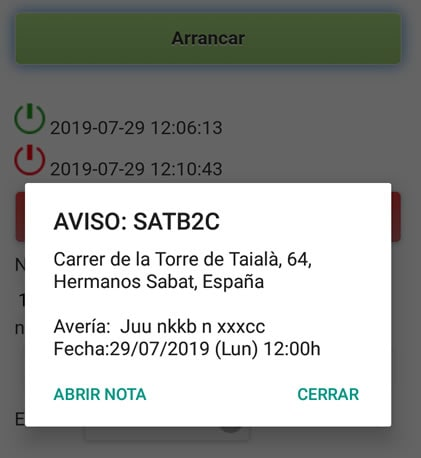 software sat push notificaciones